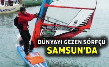 2 Yıldır Denizlerdeki Sörfçü Samsun'a Geldi